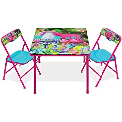Trolls Activity Table Set with Two Chairs