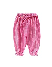 Little Baby Boys Girls Casual Elastic Pants Harem Pants Summer Stripe Bloomers Jogger