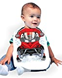 Just Add A Kid Baby Boy's Snowmobile 709 Baby Bib 0-6 Months White