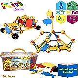 KareFLASH STEM Educational Building Blocks | True IQ Builder | Construction Engineering | Learning Fun Educational Toy for Kids 3 4 5 6 7 8 9 Boys and Girls | Creative Imagination