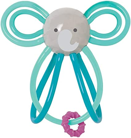 Manhattan Toy Winkel  Elephant Rattle /& Sensory Teether