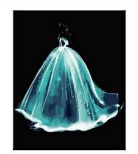 Juegos De Pintura Vestido De Novia De Cristal Dibujo Para