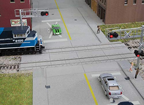 (Walthers Cornerstone HO Scale Detail Kit Modern Concrete Grade Crossing)
