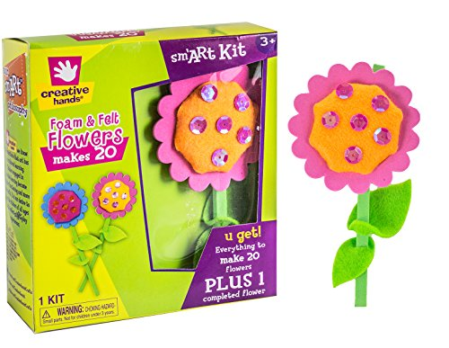 Creative Hands by Fibre-Craft Felt and Foam Flowers for Arts and Crafts