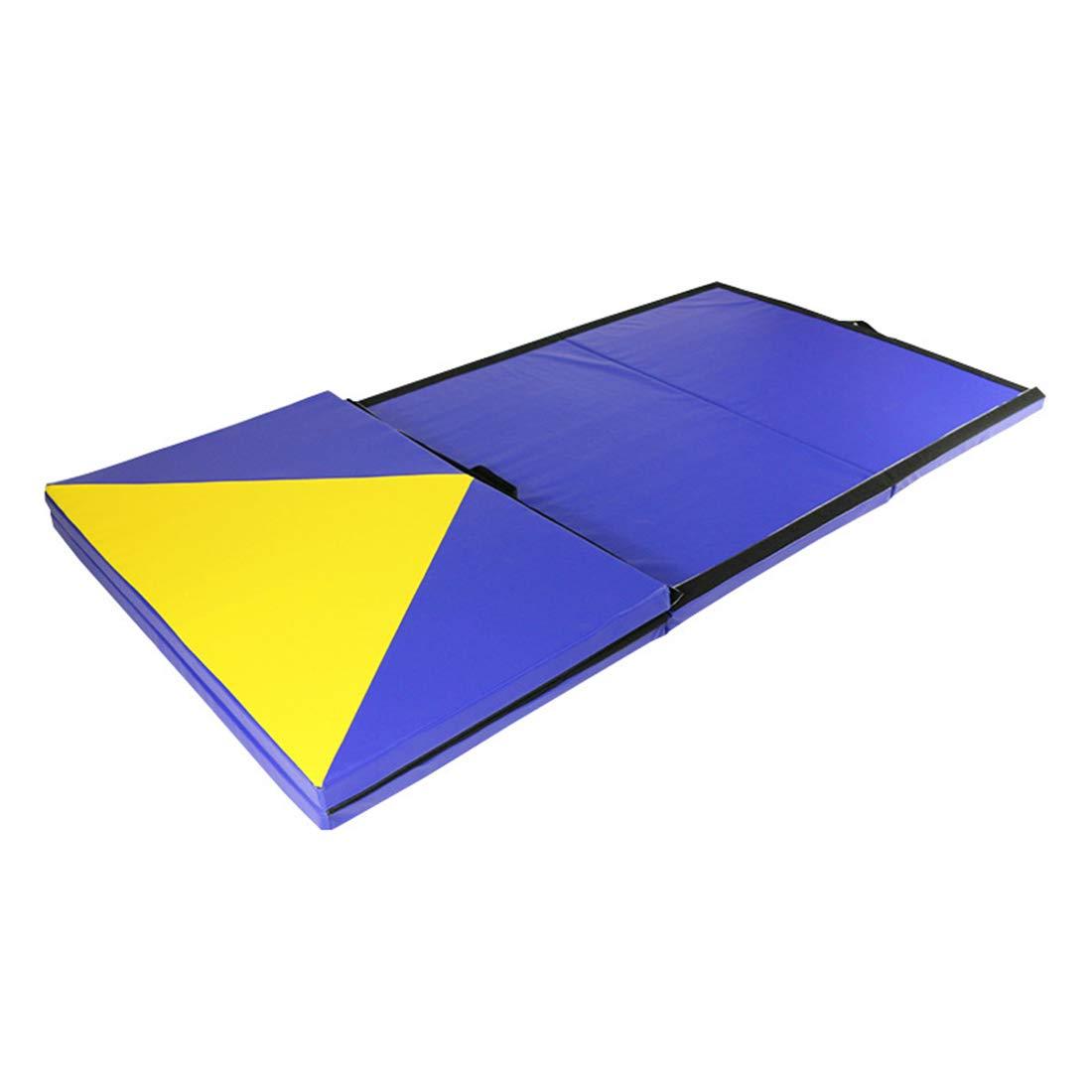 Koloeplf ダンス、練習、フィットネスのための体操クッションシットアップスポンジマットヨガマット (Color : ブルー)  ブルー B07MR19QL5