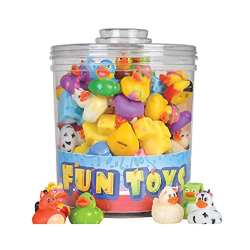 72Pc Assorted 2'' Rubber Duckies by Bargain World