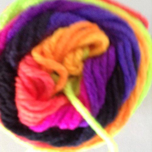 Bulk Buy: Red Heart Super Saver Yarn, Bright Stripe (4970), Pack of 2 Balls
