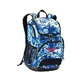 Speedo Printed Teamster Backpack (35L) White/Blue Marble