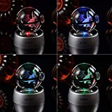 3D crystal LED Night Light,7 Colors Gradual Changing Table Lamp for Holiday Gifts or Home …