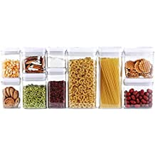 DRAGONN 10-Piece Airtight Food Storage Container Set, Big Sizes Included, Keeps Food Fresh & Dry - Durable Plastic - BPA-Free