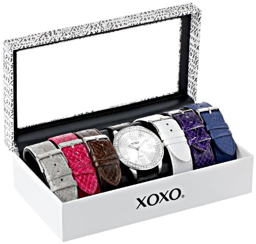XOXO Women's XO9068 Analog-Display Quartz Watch with Interchangeable Bands