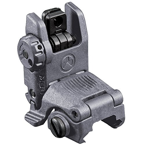Magpul Industries MBUS Back Up Sight fits Picatinny (Rear Flip Up), Gray