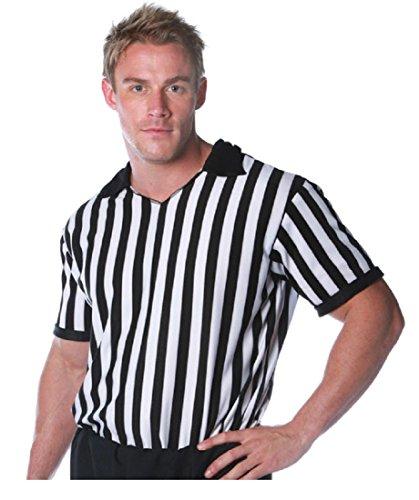 [Underwraps Costumes Men's Referee Costume - Shirt, Black/White, X-Large] (Referee Costume Plus Size)