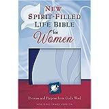 New King James Version - NKJV - New Spirit-filled Life Bible For Women: Leather Soft Imitation Leather - Blue