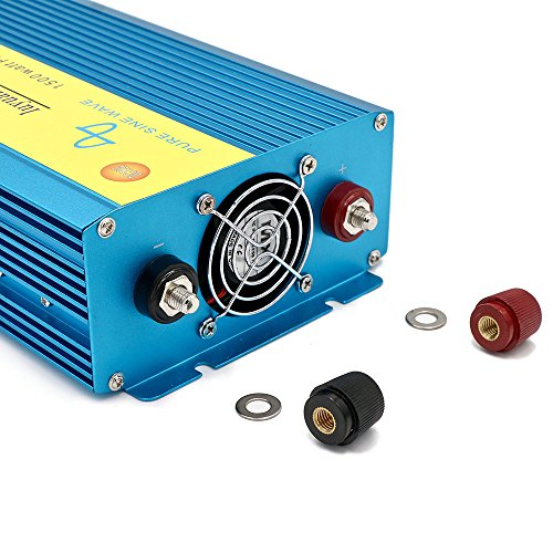 Cantonape Car Boat RV 1500W/3000W(Peak) Pure Sine Wave Power Inverter DC 12V to 110V AC with LCD Display by Cantonape (Image #4)