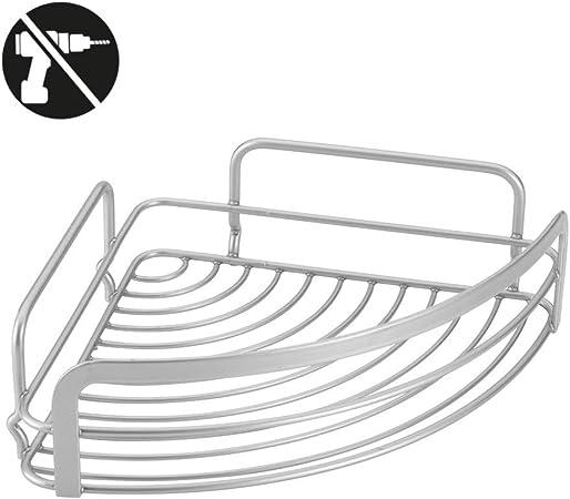 Mensola angolare 1 ripiano per bagno Metaltex serie VIva! 404806