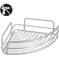 Metaltex Rinconera baño 1 Piso, Metal, Gris Metalizado