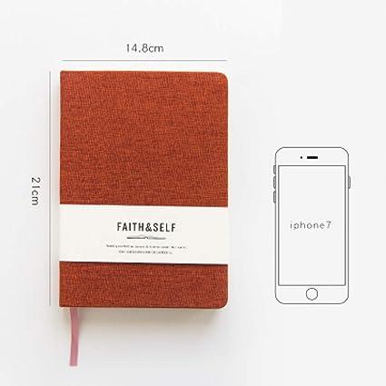Agenda Planificador de cuadernos A5 Cuaderno de tela ...