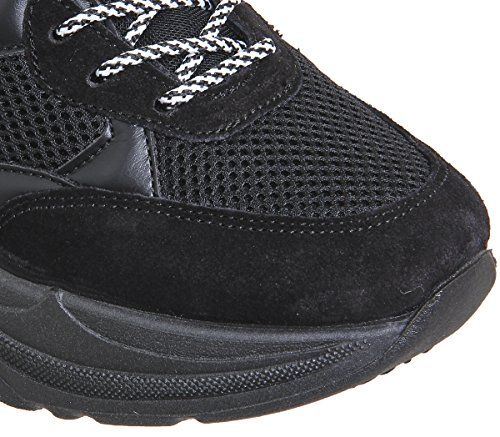 Mix Trainers Black Chunky Lace Fizzled Office up Material w1FgR0