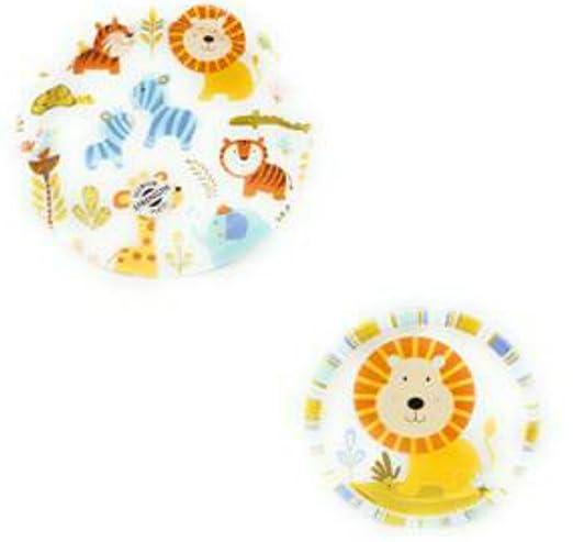 Napkins Decorations,Jungle Animals ShoppeShare Disposable Plates Lion//Giraffe//Elephant Cups 9-Piece Bundle CreativeConverting