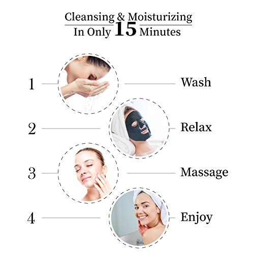Dr.Morita Deep Cleansing Hydrating Black Sheet Mask Hyaluronic Acid Facial Mask Purifying Pores...