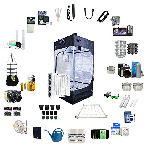 Black Dog LED 3.6 x 3.6 Indoor Grow Tent Kit Complete with P