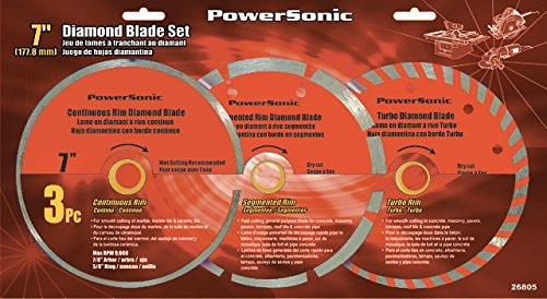 Powersonic 4-1/2 inch Diamond Saw Blade Set for Angle Grinders - Pack of 3 - - Amazon.com
