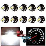 CCIYU 10 Pack White T4.2/T4 Neo Wedge 3014SMD 3LED A/C Climate Control Heater Light Bulbs
