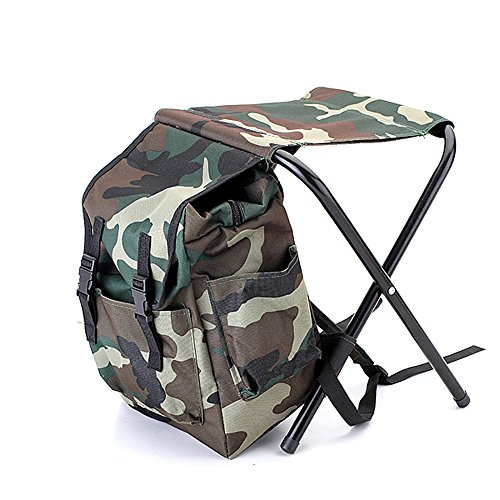Tinghan Camouflage Backpack Cooler Bag Chair High-Intensity Steel Cross for Fishing Camping by Tinghan