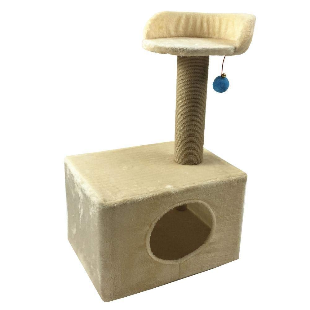 Deluxe Multi Cat Tower Creative Play Towers Trees for Cats Pet Grab Column Toy Furniture Grab Board Platform 45  35  72cm