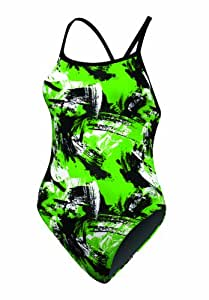 Arena Girl's Malaki Youth FL, Black/Kelly Green, Size 22