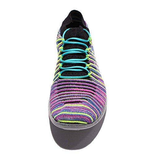 Scarpe da running Nike Running Running Flyknit da donna, rosa-viola-giallo - 7 B (M) US