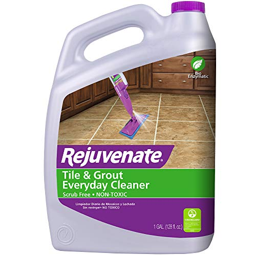Rejuvenate Non Toxic Bio Enzymatic No Scrub Tile and Grout Cleaner Lightens and Brightens Every Time 1 Gallon