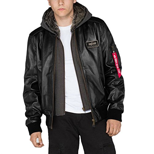 Nero Jacke Alpha Ma Industries Leather D 1 tec xq07gxBw