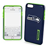 "Forever Collectibles Seattle Seahawks Impact TPU 2-Piece Dual Hybrid iPhone 8/iPhone 7/iPhone 6/iPhone 6s Case - 4.7"" Screen ONLY"