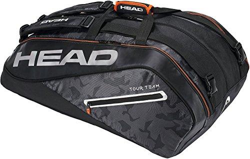 HEAD Tour Team 12R Monstercombi Tennis Bag Black/Silver (Bag Tennis Silver)