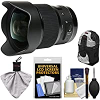 Sigma 20mm f/1.4 Art DG HSM Lens for Canon EOS Digital SLR Cameras with Backpack + Kit