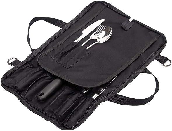 Bolsa multifunción para cuchillos de chef, rollo de cuchillos con asa, resistente al agua, organizador de rollo para utensilios de cocina, funda protectora de estuche DD0037: Amazon.es: Hogar