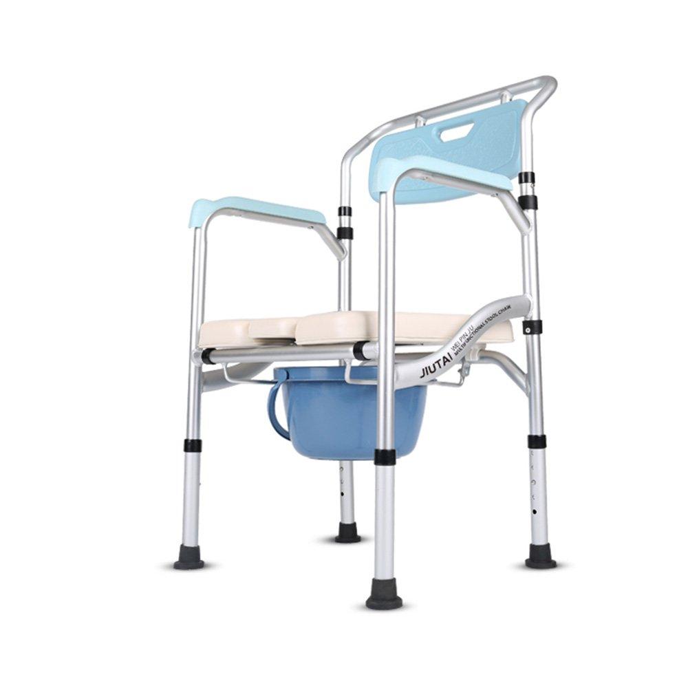 トイレシート トイレの椅子、妊娠中の女性の老人は、折り畳み式のすくい上げトイレ患者トイレスツールベルトホイール座って携帯トイレ (サイズ さいず : B) B07D6HY24B B  B