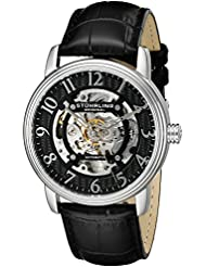 Stuhrling Original Mens 970.01 Legacy Analog Display Automatic Self Wind Black Watch