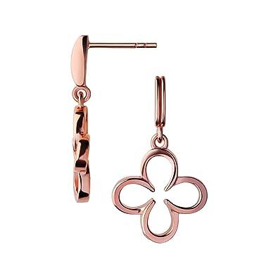 ef6f465d855b5 Links of London Ascot Clover 18kt Rose Gold Vermeil Drop Earrings ...