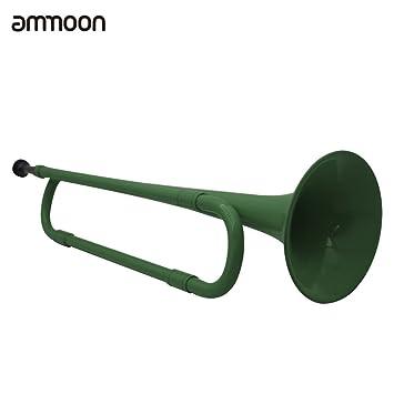 ammoon B Flat Bugle Cavalry Trompette Ecologique Plastique avec Embouchure pour la bande /Étudiant d/école