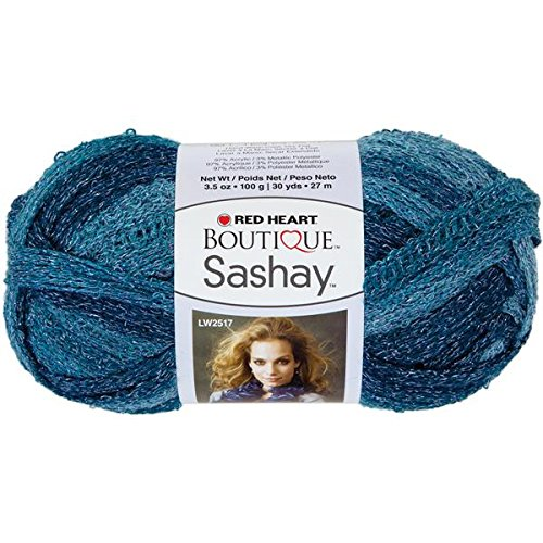 (RED HEART Boutique Sashay Metallic Yarn, Aquamarine)