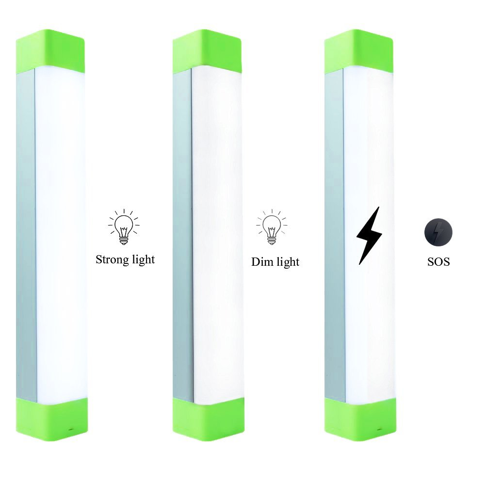 XINBAOHONG Portable LED Camping Light Stick, Emergency Magnetic Work Lamp Lantern, Rechargeable Handy Light for Home Lighting, Outdoor Night Fishing, Hiking,Biking(Green) by XINBAOHONG (Image #4)