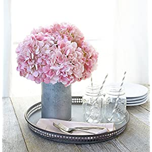 Butterfly Craze Artificial Hydrangea Silk Flowers for Wedding Bouquet, Flower Arrangements - Pink Color, 5 Stems per Bundle 3