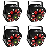 Chauvet DJ SWARM 5 FX RGBAW LED Active Derby, Strobe Laser Party Light (4 Pack)