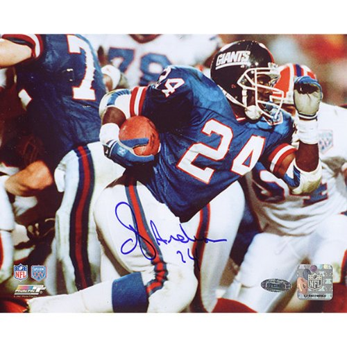 NFL New York Giants OJ Anderson SB XXV Rushing Photograph, 8x10-Inch