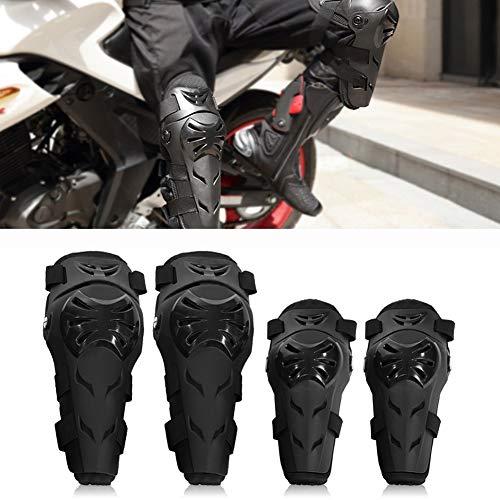 Motorrad Knieschoner und Ellenbogenschoner Set – 4 Stück verstellbare Knie Schutz und ellenbogenschützer Erwachsene…