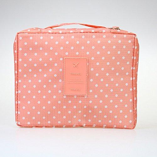 LULAN Tragbare travel Kosmetiktasche home Zubehör Multifunktion wasserdichte Taschen reisen muss zugeben Paket waschen Paket, 21 * 16,5 * 7 cm, orange Wave point