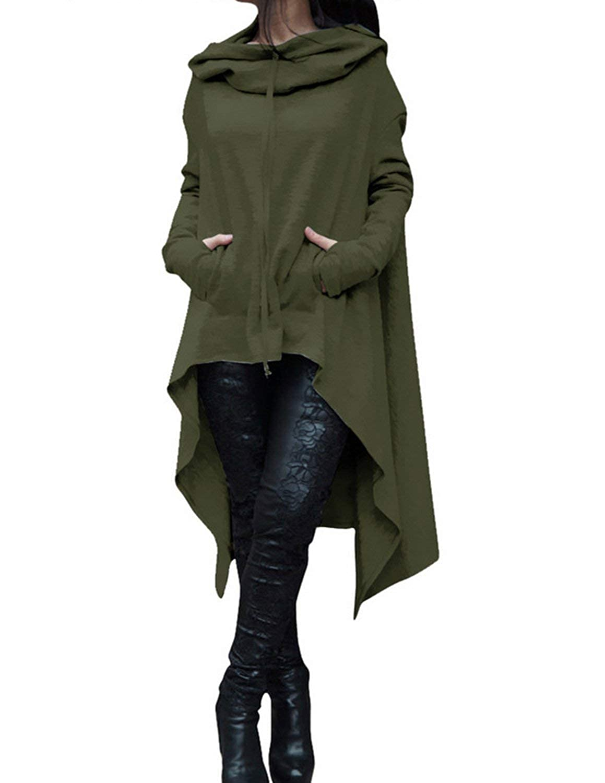 carinacoco Mujer Sudadera con Capucha Largos de Manga Larga Flojo Outwear Pullover Abrigo Tallas Grandes